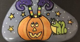 34 Rock Painting Ideas For Halloween And Fall | The Funny Beaver