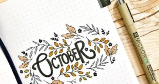 Colorful Fall Bullet Journal Cover Page Ideas   Heraldeecreates
