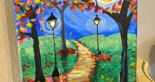 Fall Path Painting - Step By Step Painting With Tracie Kiernan