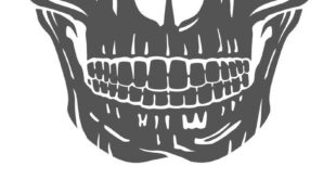 Free Skull Mouth For Mask SVG, PNG, EPS & DXF by Caluya Design