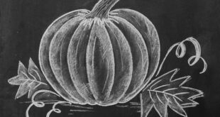 How to Draw a Chalk Pumpkin - Lily & Val Living
